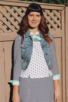 white polka dot Bear and Twine top
