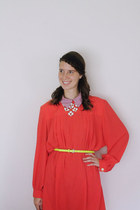 red neon Bear and Twine dress