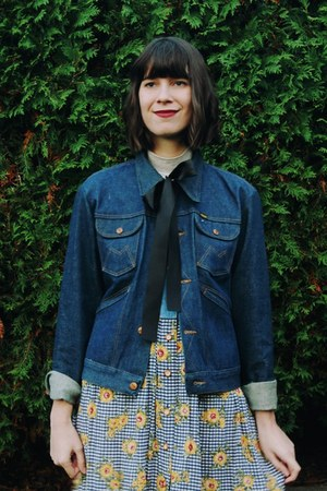 navy denim New Old Fashion Vintage jacket