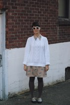 ivory fisherman thrifted sweater - tan novelty Shop Vintage Minnie dress