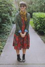 Ruby-red-paisley-mousevox-vintage-dress-olive-green-utility-h-m-jacket