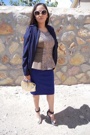 sequin Charlotte Russe blouse - Forever 21 skirt - Charlotte Russe cardigan