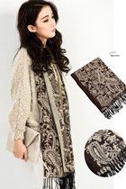 Cozy Soft Paisley Knit Scarf