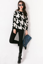 houndstooth mexyshop jumper