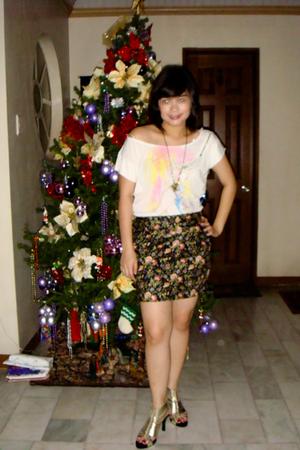Mango blouse - landmark skirt - ichigoshoesmultiplycom shoes