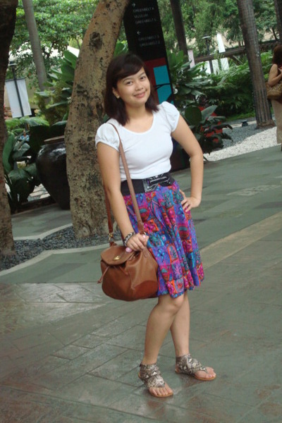 tiangge top - GH belt - mondani new york accessories - skirt - Parisian shoes