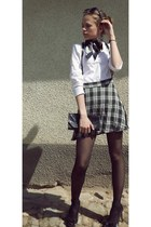 checked System Action skirt - black random brand purse