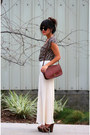 Bronze-vintage-coach-coach-purse-cream-accordion-pleat-american-apparel-pants