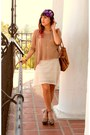 Off-white-crochet-phanuel-dress-light-brown-knit-fora-sweater