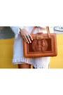 Fringe-knit-vintage-dress-thrifted-bag-platforms-jeffrey-campbell-heels