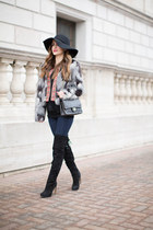 black Leith jacket - black sam edelman boots - black Target hat