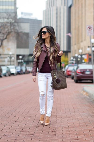 White-topshop-jeans-dark-brown-louis-vuitton-bag
