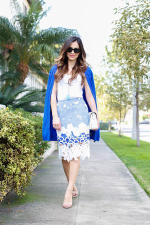 blue Shopbop skirt - blue Target cardigan - beige Steve Madden heels
