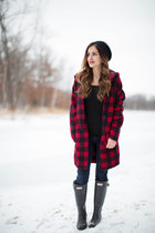 ruby red PJ Salvage cardigan - black Hunter Boots boots