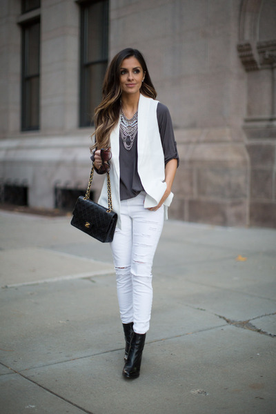 White Vest - How to Wear and Where to Buy | Chictopia