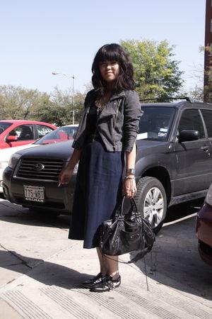 gray H&M jacket - black Aldo shoes