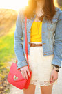 Sky-blue-denim-sf-jacket-hot-pink-leather-forever-21-purse