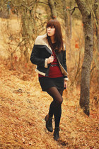 black collection b jacket - ruby red Forever 21 sweater