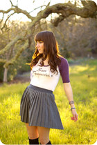 light purple sf shirt - heather gray skirt