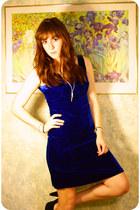 blue velvet Vinatge dress