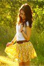 Gold-forever-21-skirt
