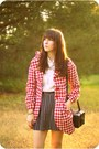 Red-mod-bette-coat-white-mod-vintage-shirt-black-mod-forever-skirt