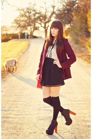 leather Jeffrey Campbell boots - dress - wool Forever21 coat