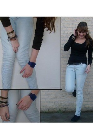 H&M shirt - Bershka jeans - H&M shoes - vintage belt