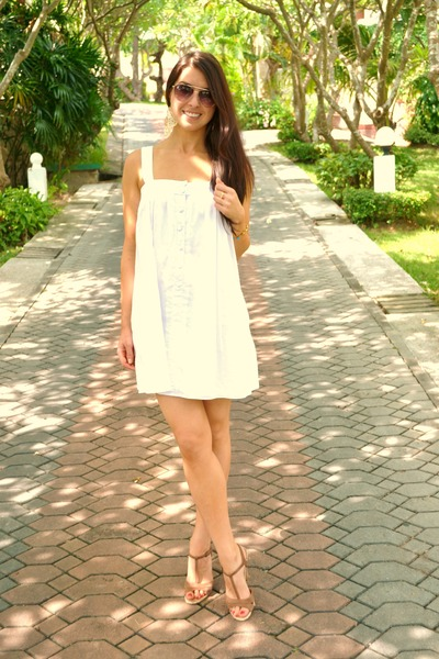 White White Dress Sportsgirl Dresses, Camel Tan Heels Sportsgirl ...