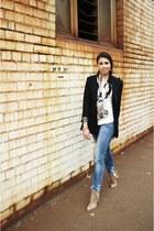 navy blue jeans Dotti jeans - black black blazer Cue jacket