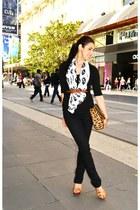 black black jeans Lee jeans - carrot orange asos bag - black black top Country R