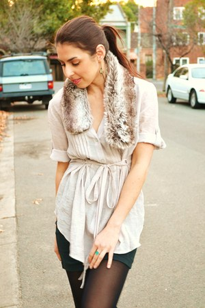 classic shirt bigw shirt - eggshell fur scarf Target scarf
