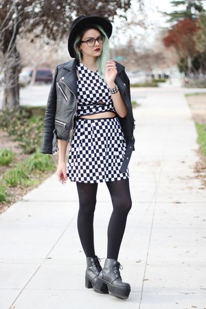 PINKBASIS dress - faux leather OASAP but similiar in link jacket