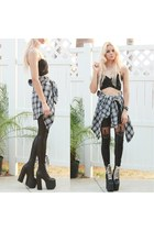 StyleMoi top - UNIF boots - Yesfor tights