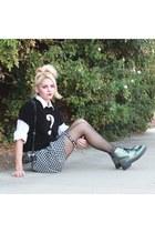 black Aliexpress skirt - teal TUK boots