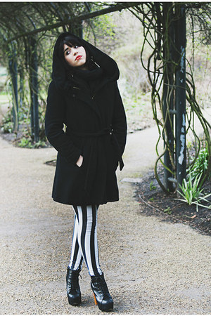 Zara coat - Tally Wejil leggings - Jeffrey Campbell heels
