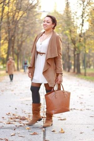 Roberto Santi boots - GINA TRICOT dress - Promod jacket - H&M belt