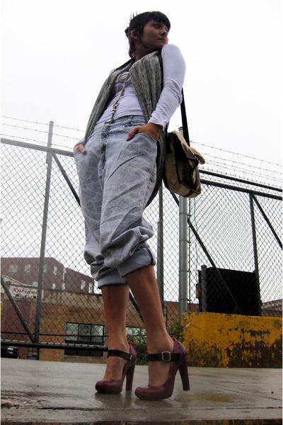f21 shirt - f21 vest - vintage calvin klein jeans - Marni shoes - vintage purse