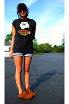 vintage Harley-Davidson t-shirt - Sparkle top - vintage levis shorts - Minnetonk