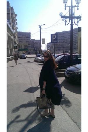 tan leather oxford Musette shoes - tan Accessorize bag - dark khaki Zara pants