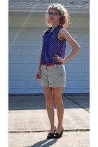 H&M shorts - Gap top - H&M belt
