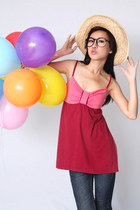 ruby red cami Midwest Vintage top