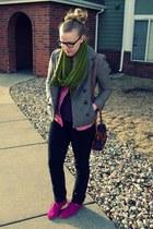 hot pink Gap shoes - olive green Target scarf