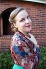 Tawny-vintage-blouse-aquamarine-vintage-pykettes-skirt