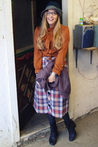 tawny vintage blouse