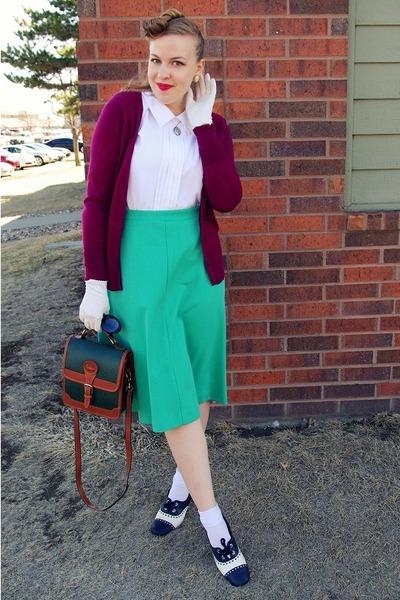 aquamarine vintage skirt - maroon Target cardigan