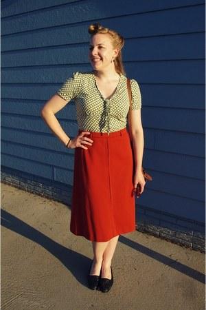 carrot orange vintage skirt