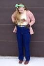 Navy-vintage-jeans-cream-vintage-sweater-aquamarine-vintage-scarf