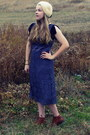 Navy-vintage-coat-periwinkle-target-dress