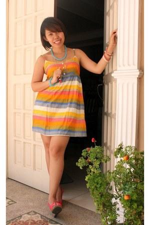 cotton dress Forever 21 dress - Aldo necklace